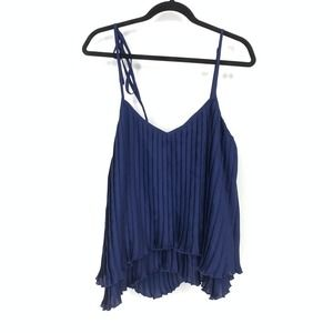 Patterson J Kincaid Ono Pleated Tank Top High Low